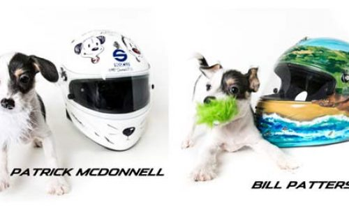 Unique Sparco Helmets turned into Motorsports Art for Animals